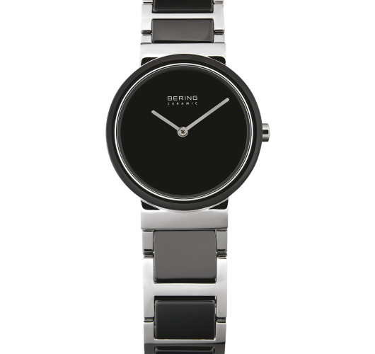 Ladies stainless black ceramic watch