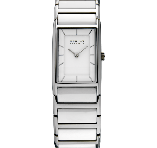 Ladies stainless white ceramic watch