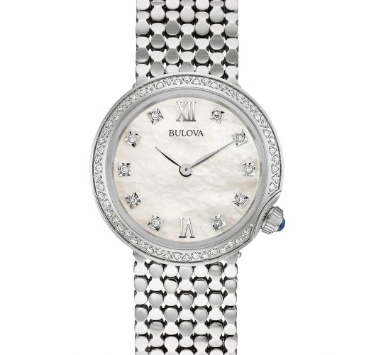 Ladies stainless watch with diamonds
