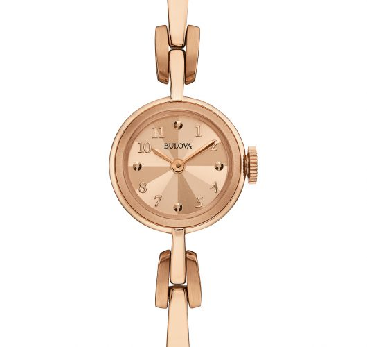 Ladies rose-tone quartz fashion watch