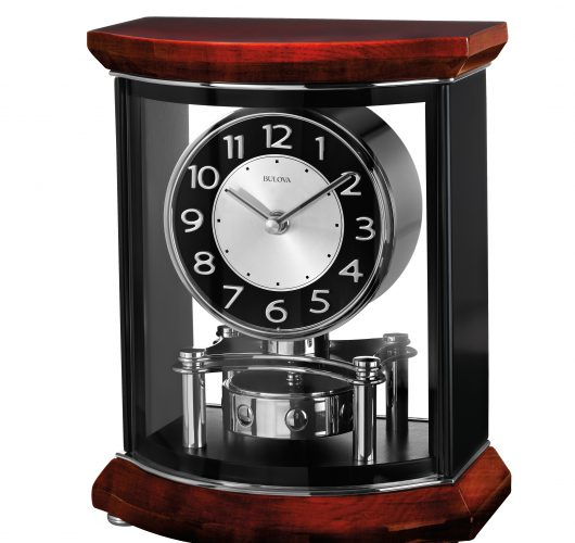 Table clock with piano finish