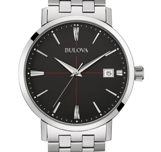 Mens stainless quartz watch