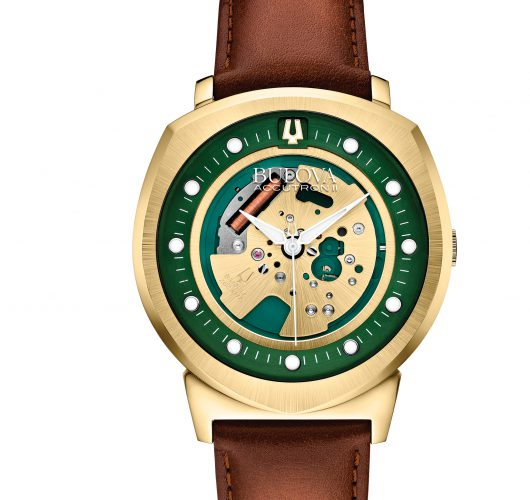 Mens Accutron II watch stainless with gold finish