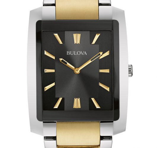 Mens two tone quartz watch