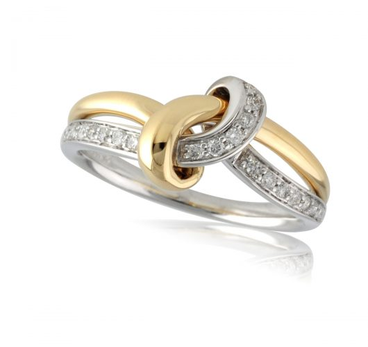 White & Yellow gold diamond ring