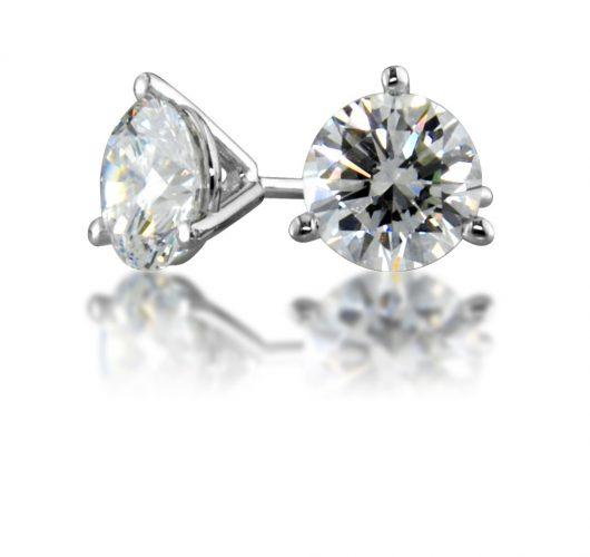 White gold martini diamond stud earrings