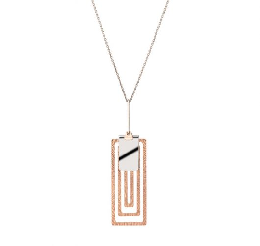 Sterling & rose gold overlay pendant