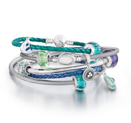 Chamilia Sterling silver & leather charm bracelets