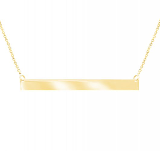 14kt yellow gold bar necklace