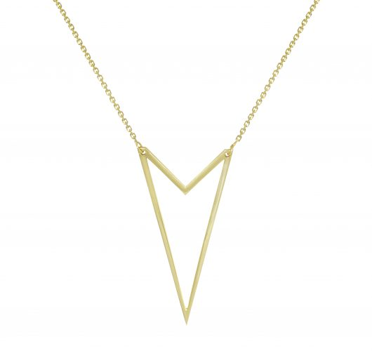 14kt triangle necklace