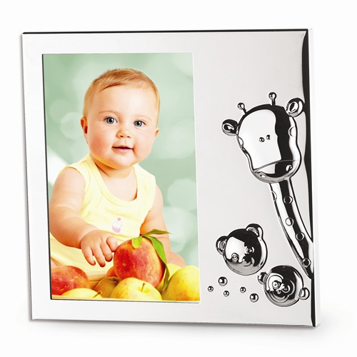 Silver plated animal picture frame