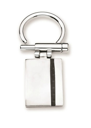 Stainless key ring with carbon fiber