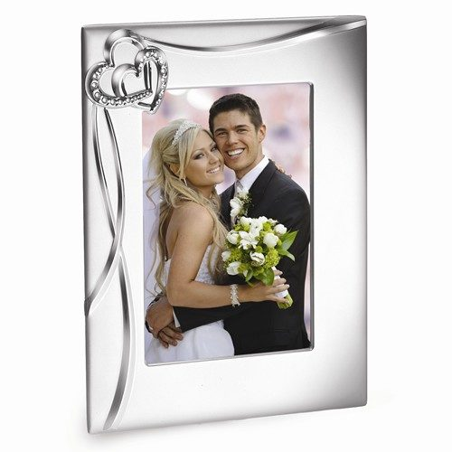 Silver plated heart picture frame