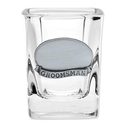 Groomsman shot glass