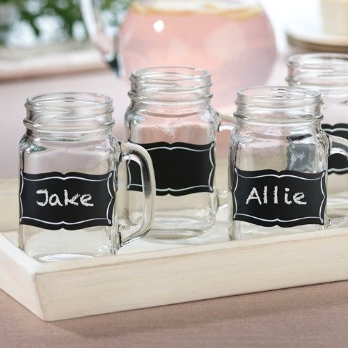 Chalkboard glass clings