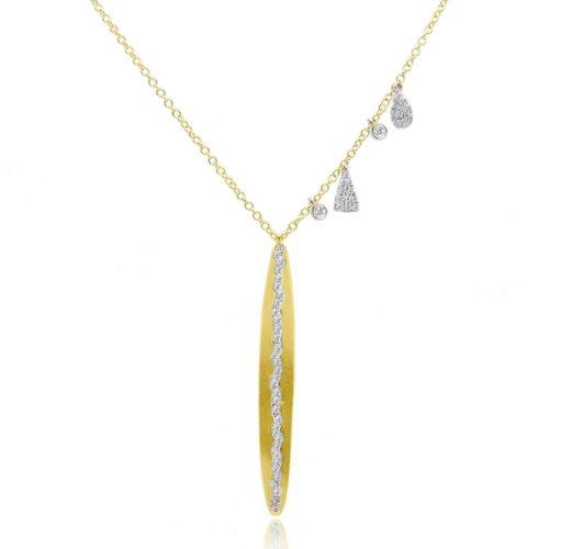Yellow & white gold diamond necklace