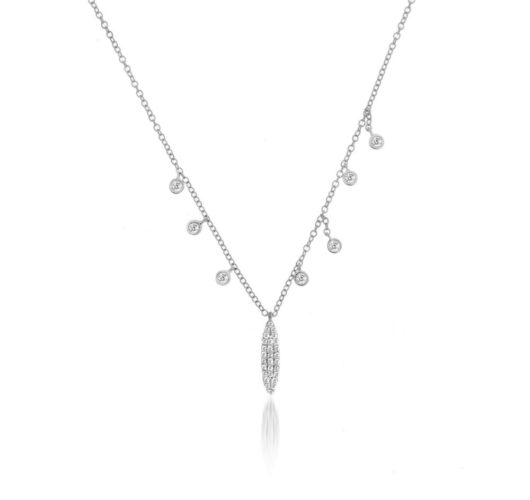 White gold delicate diamond necklace